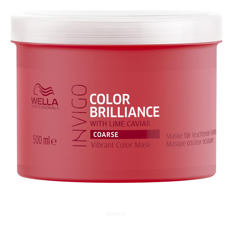 Купить Маска-уход для защиты цвета окрашенных жестких волос Invigo Color Brilliance Coarse: Маска-уход 500мл, Wella