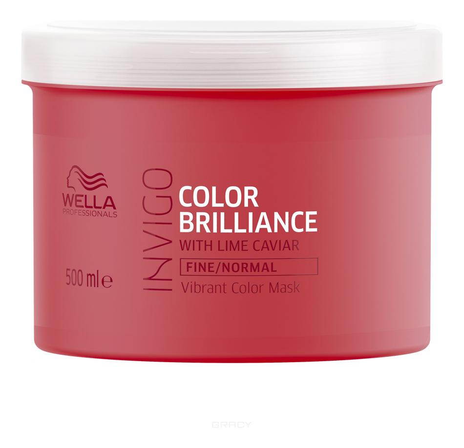 Купить Маска-уход для защиты цвета окрашенных нормальных и тонких волос Invigo Color Brilliance Normal: Маска-уход 500мл, Wella