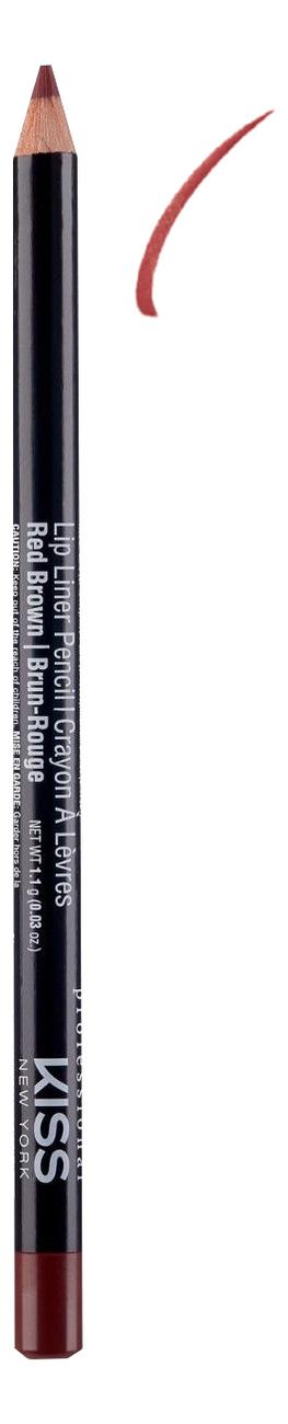 Контурный карандаш для губ Lip Liner Pencil 1,1г: Red Brown