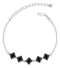 Mademoiselle Jolie Браслет Merci Rhodium Black Diamond