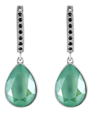 Mademoiselle Jolie Серьги Merci Jour Rhodium Mint
