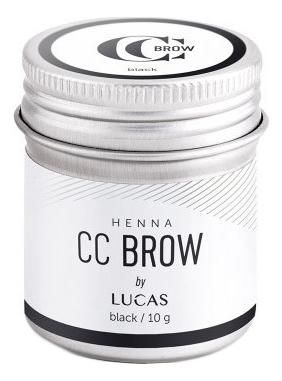 Хна для окрашивания бровей CC Brow Color Correction Professional Brow Henna Black: Хна 10г цена и фото