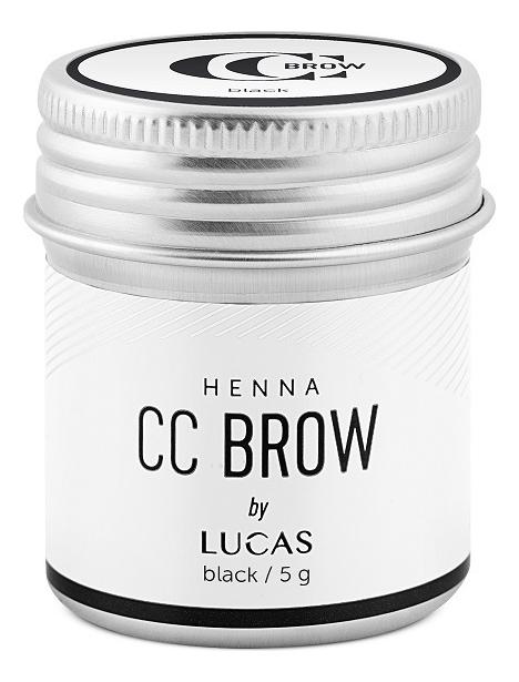Хна для окрашивания бровей CC Brow Color Correction Professional Brow Henna Black: Хна 5г