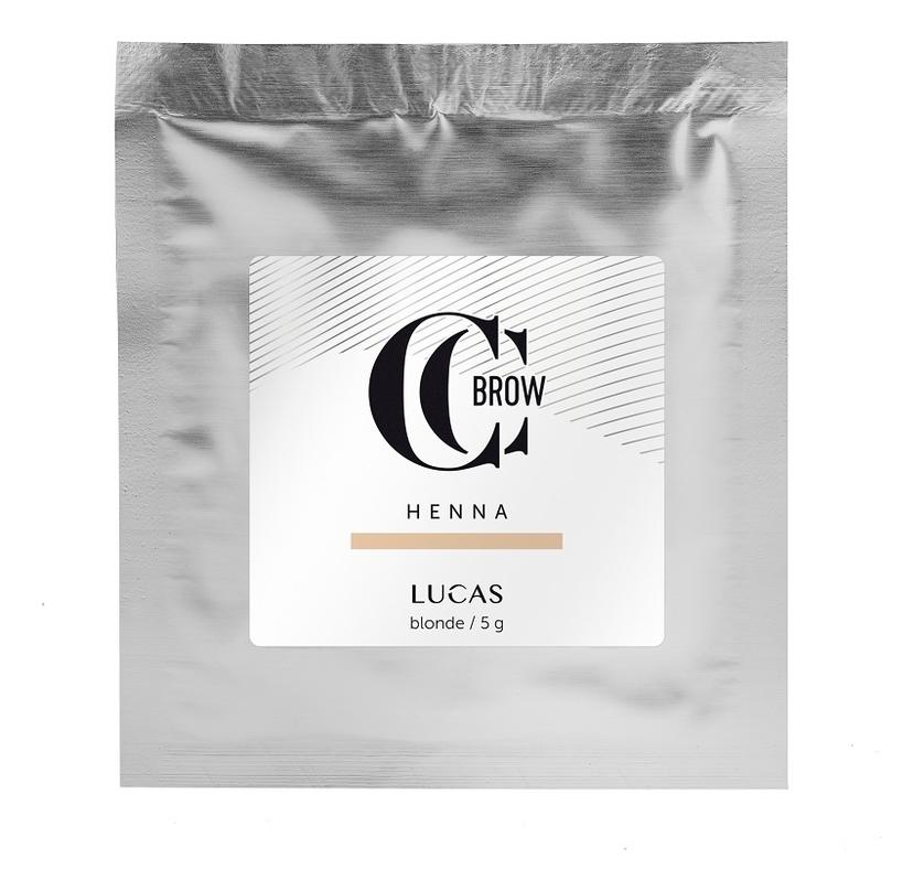 Хна для окрашивания бровей CC Brow Color Correction Professional Henna Blonde: 5г (саше)