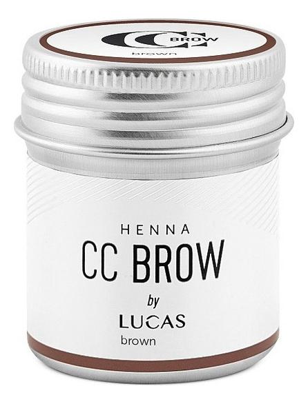 Хна для окрашивания бровей CC Brow Color Correction Professional Henna Brown: 10г