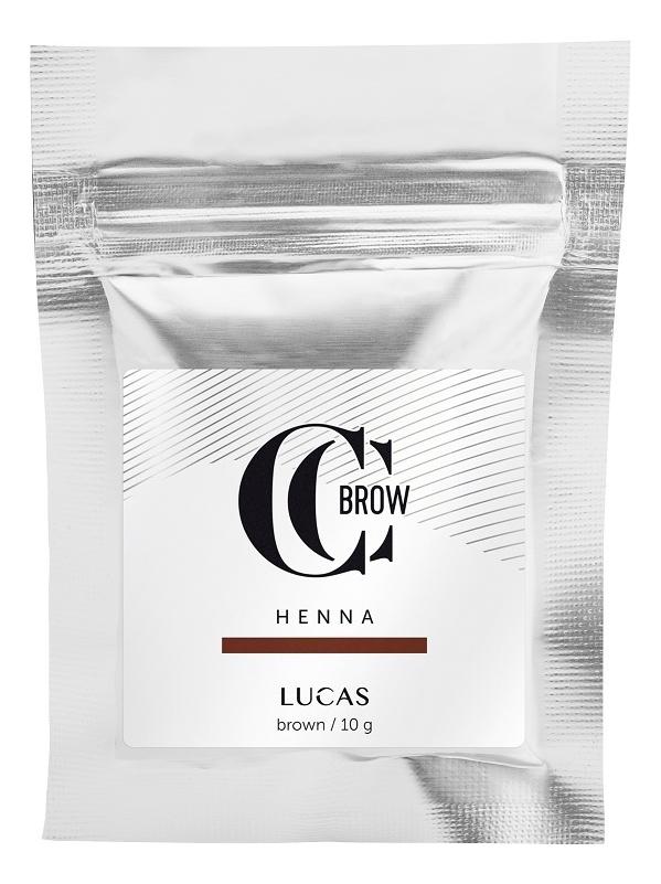 Купить Хна для окрашивания бровей CC Brow Color Correction Professional Brow Henna Brown: Хна 10г (саше), Lucas' Cosmetics