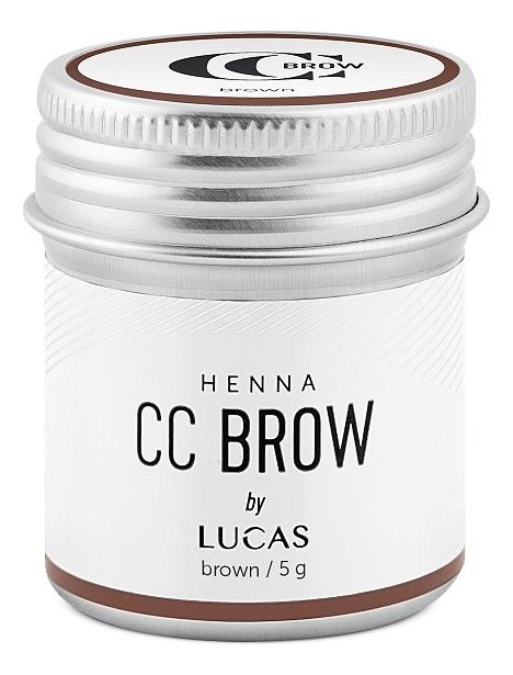 Хна для окрашивания бровей CC Brow Color Correction Professional Brow Henna Brown: Хна 5г