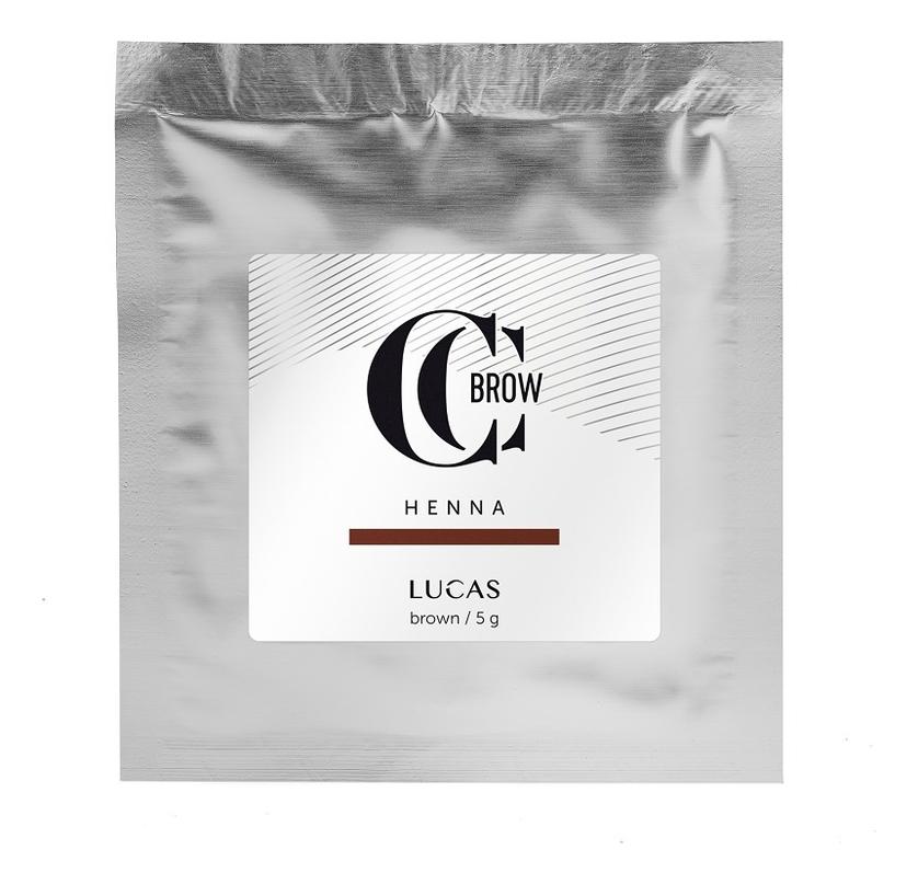 Купить Хна для окрашивания бровей CC Brow Color Correction Professional Brow Henna Brown: Хна 5г (саше), Lucas' Cosmetics