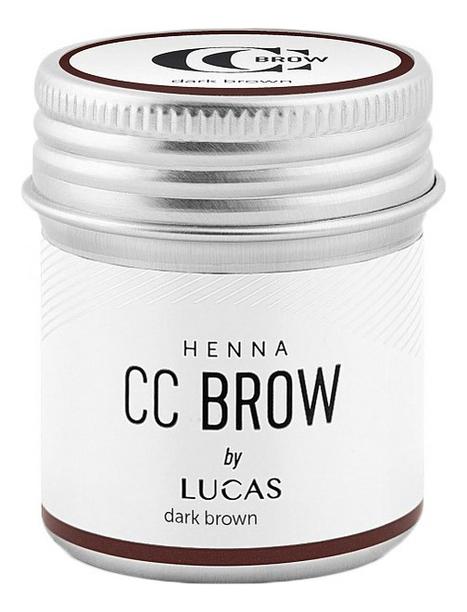 Купить Хна для окрашивания бровей CC Brow Color Correction Professional Brow Henna Dark Brown: Хна 10г, Lucas' Cosmetics