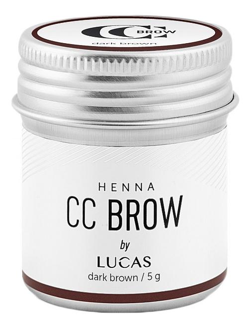 Купить Хна для окрашивания бровей CC Brow Color Correction Professional Brow Henna Dark Brown: Хна 5г, Lucas' Cosmetics