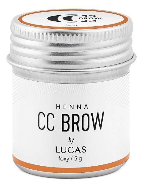 Хна для окрашивания бровей CC Brow Color Correction Professional Brow Henna Foxy: Хна 5г цена и фото