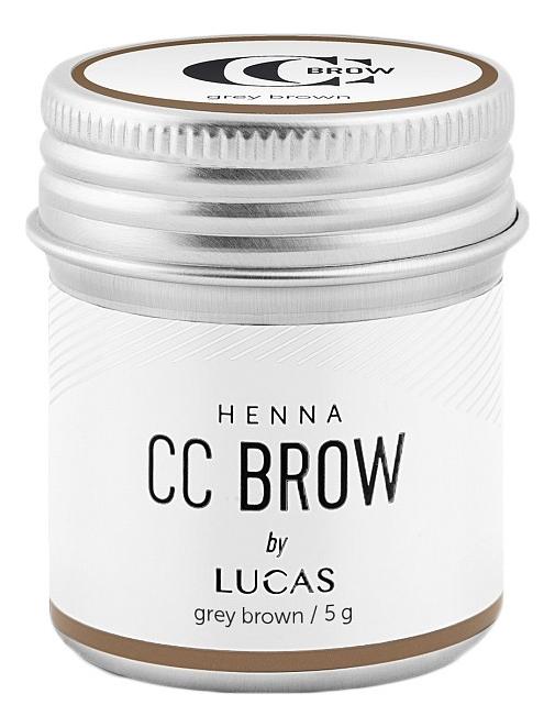 Купить Хна для окрашивания бровей CC Brow Color Correction Professional Brow Henna Grey Brown: Хна 5г, Lucas' Cosmetics