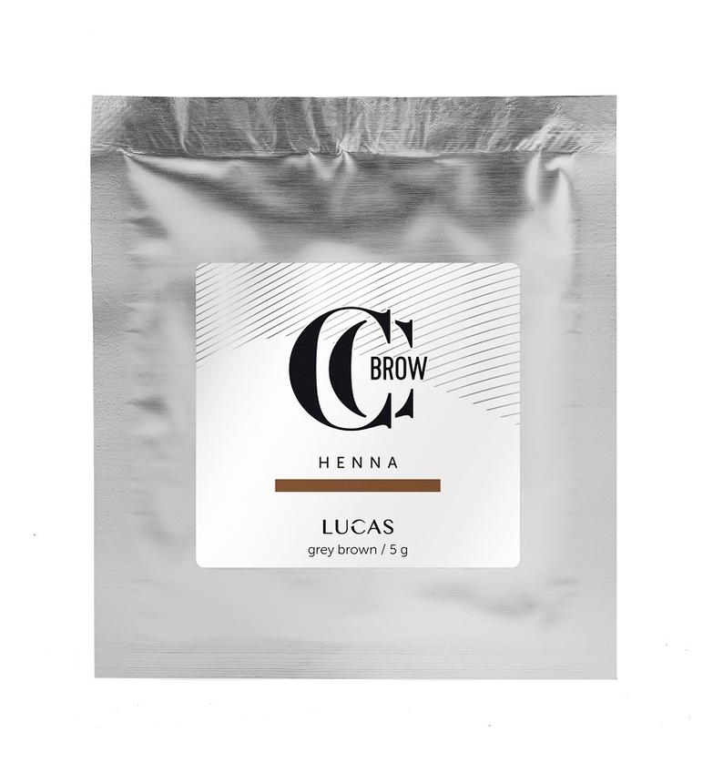 Купить Хна для окрашивания бровей CC Brow Color Correction Professional Brow Henna Grey Brown: Хна 5г (саше), Lucas' Cosmetics