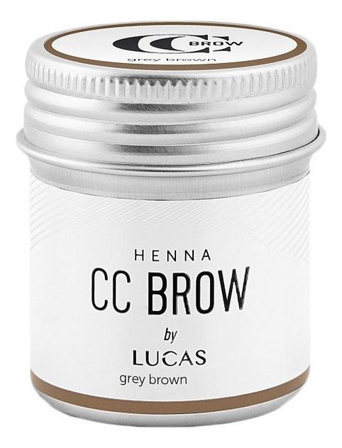 Купить Хна для окрашивания бровей CC Brow Color Correction Professional Brow Henna Grey Brown: Хна 10г, Lucas' Cosmetics