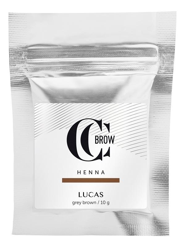 Купить Хна для окрашивания бровей CC Brow Color Correction Professional Brow Henna Grey Brown: Хна 10г (саше), Lucas' Cosmetics