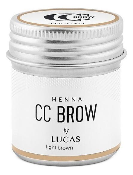 Хна для окрашивания бровей CC Brow Color Correction Professional Brow Henna Light Brown: Хна 10г