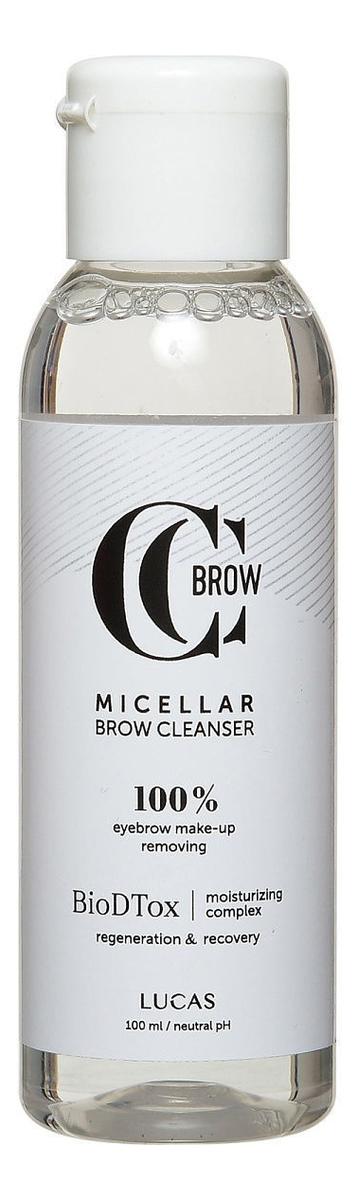 Мицеллярная вода для бровей Micellar Brow Cleanser By CC Brow 100мл цена и фото