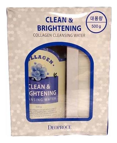 Вода очищающая для лица с коллагеном Clean & Brightening Collagen Cleansing Water 500г moistfull collagen