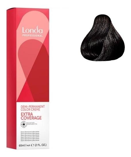 Крем-краска для интенсивного тонирования волос Extra Coverage 60мл: 4/07 Шатен натурально-коричневый