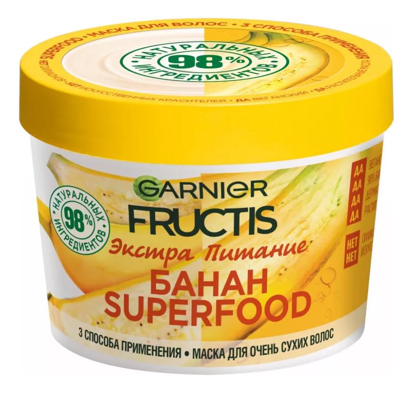 Маска для очень сухих волос Банан Fructis Superfood 390мл