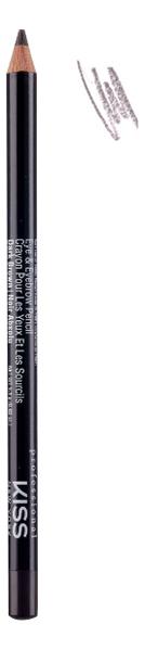 Фото - Контурный карандаш для глаз Eye & Eyebrow Pencil 1,1г: Dark Brown pupa карандаш true eyebrow pencil оттенок 003 dark brown