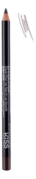 Купить Контурный карандаш для глаз Eye & Eyebrow Pencil 1, 1г: Brown, Контурный карандаш для глаз Eye & Eyebrow Pencil 1, 1г, KISS New York Professional