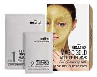 цена на Маска для лица гелевая с золотом Urban Вollkiss Magic Gold Modeling Gel Mask 50г + 5г