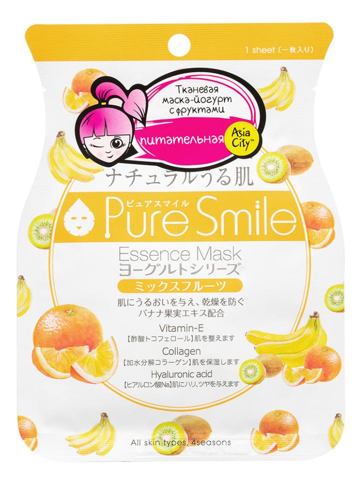 Фото - Маска для лица на йогуртовой основе с фруктами Pure Smile Essence Mask Yogurt Series 30г маска для лица sunsmile pure smile essence mask green tea 23 мл