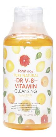 Очищающая вода для лица с витаминами Pure Natural Cleansing Water Vitamin 500мл очищающая вода урьяж