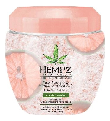 Скраб для тела Pink Pomelo & Himalayan Sea Salt Herbal Body Salt Scrub 155г соляной скраб для тела розмарин и лаванда sea salt scrub rosemary lavander 380мл