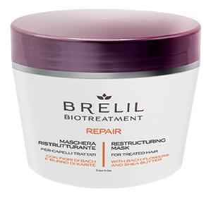Купить Маска для восстановления волос Bio Treatment Repair Mask: Маска 220мл, Brelil Professional