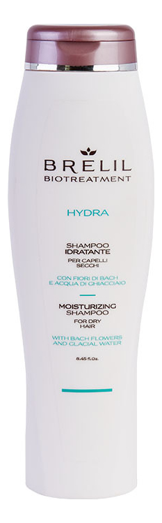 Увлажняющий шампунь для волос Bio Treatment Hydra Shampoo: Шампунь 250мл brelil professional двухфазный увлажняющий бальзам hydra balsamo bifase 150 мл