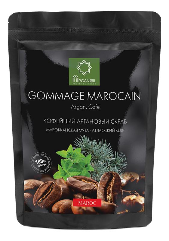 Фото - Кофейный аргановый скраб для тела Gommage Marocain (марокканская мята-атласский кедр): Скраб 60г аргановый кофейный скраб для тела argana scrub body coffee chocolate шоколад скраб 150г