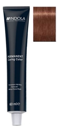 Стойкая крем-краска для волос Caring Color Ageless 60мл: 7.38+ Средний русый золотистый шоколадный интенсивный крем краска для волос indola color red