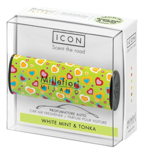 Millefiori Milano Ароматизатор для автомобиля Белая мята и тонка Icon White Mint & Tonka