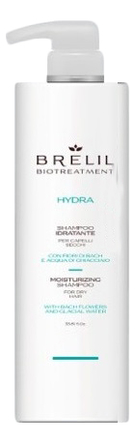 Купить Увлажняющий шампунь для волос Bio Treatment Hydra Shampoo: Шампунь 1000мл, Brelil Professional