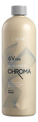 Купить Стабилизированный крем-окислитель для волос 6V 1, 8% Chroma Developer Oxydant Cream: Крем-окислитель 120мл, Lakme