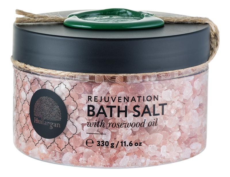 Купить Соль для ванн с маслом розового дерева Rejuvenation Bath Salt With Rosewood Oil 330г, Huilargan
