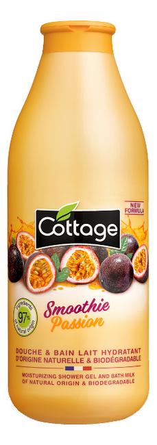 Гель-пена для ванны и душа Energizing Shower Gel And Bath Milk With Smoothie Passion Fruit Extracts 750мл