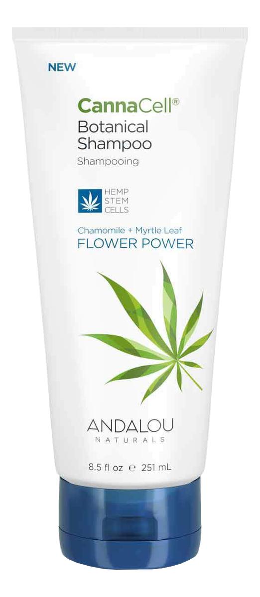 Купить Шампунь для волос с экстрактом ромашки Canna Cell Botanical Shampoo Flower Power 251мл, Andalou Naturals