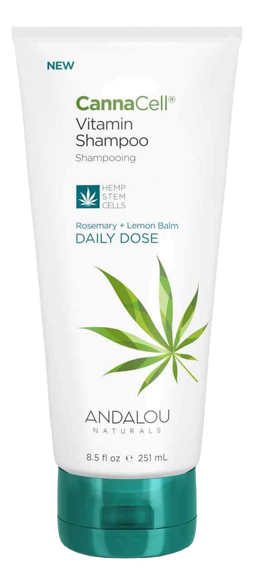 Купить Витаминный шампунь для волос с экстрактом розмарина Canna Cell Vitamin Shampoo Daily Dose 251мл, Andalou Naturals