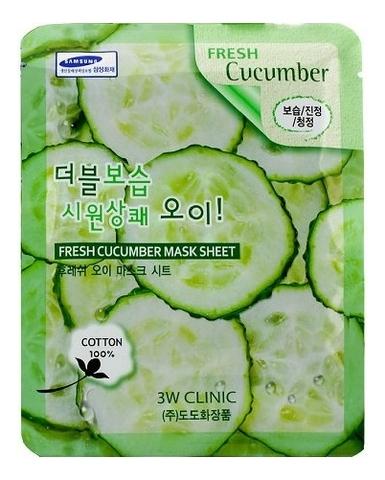 Тканевая маска для лица с огуречным экстрактом Fresh Cucumber Mask Sheet: Маска 23г lebelage тканевая маска для лица увлажняющая aqua natural mask 23г