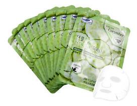 Тканевая маска для лица с огуречным экстрактом Fresh Cucumber Mask Sheet: Маска 10*23г антивозрастная тканевая маска для лица rose gold mask anti aging 23г