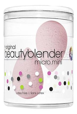 Мини-спонж для макияжа Micro Mini Bubble (нежно-розовый 2шт) цена и фото