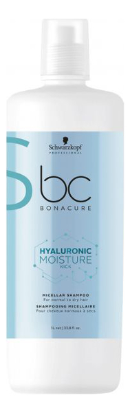 Фото - Мицеллярный шампунь для волос BC Hyaluronic Moisture Kick: Шампунь 1000мл schwarzkopf кондиционер мицеллярный очищающий moisture kick 500 мл