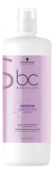 Мицеллярный шампунь для волос BC Keratin Smooth Perfect Micellar Shampoo: Мицеллярный шампунь 1000мл kevin murphy шампунь smooth