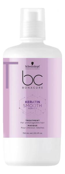 Маска для непослушных и жестких волос BC Keratin Smooth Perfect Treatment: Маска 750мл schwarzkopf маска keratin smooth perfect 750 мл