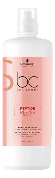 цена на Мицеллярный шампунь для волос BC Peptide Repair Rescue Micellar Shampoo: Шампунь 1000мл