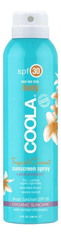 Солнцезащитный спрей для тела Body Sunscreen Spray Tropical Coconut SPF30: Спрей 236мл солнцезащитный спрей для тела sport sunscreen spray unscented spf50 спрей 177мл