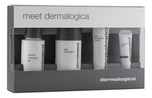 Набор для лица Meet Dermalogica (очищающий гель Special Cleansing Gel 50мл + микрофолиант Daily Microfoliant 13г + мультивитаминное средство MultiVitamin Power Firm 5мл + крем Skin Smoothing Cream 22мл)